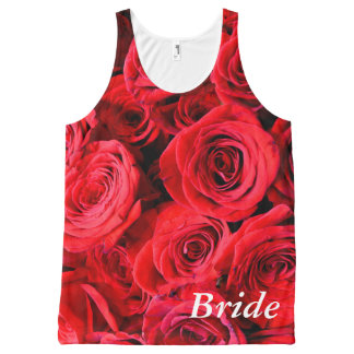 Red Roses All-Over Print Tank Top