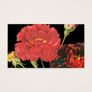 Red Roses and Bud Business Card