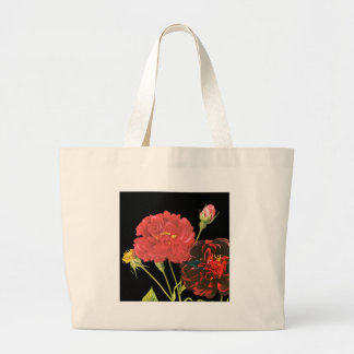 Red Roses and Bud Canvas Bag