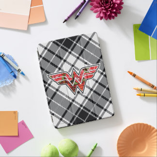 Red Roses and Plaid Wonder Woman Logo iPad Air Cover