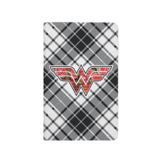Red Roses and Plaid Wonder Woman Logo Journal