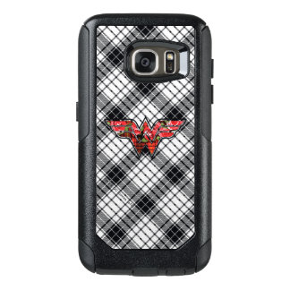 Red Roses and Plaid Wonder Woman Logo OtterBox Samsung Galaxy S7 Case