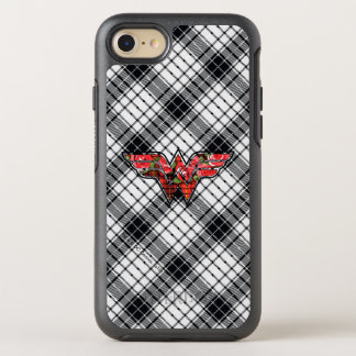 Red Roses and Plaid Wonder Woman Logo OtterBox Symmetry iPhone 8/7 Case