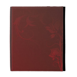 Red Roses and Swirls iPad Case