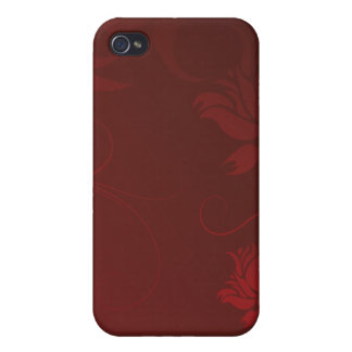 Red Roses and Swirls iPhone 4 Covers