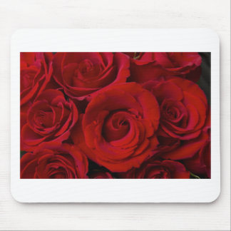 Red Roses and Water Drops Mouse Pad