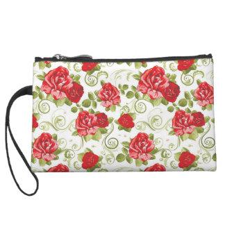Red roses Bagettes Bag Wristlet Purses