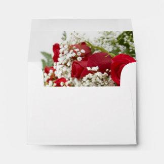 Red Roses Bouquet RSVP Envelopes