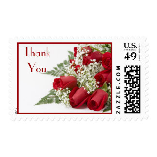 Red Roses Bouquet Thank You Postage