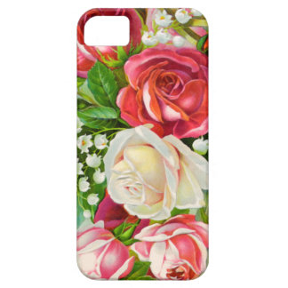 Red Roses Bouquet Watercolor iPhone 5 Case