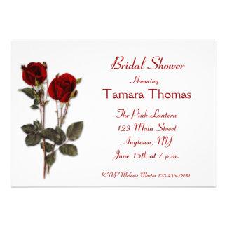Red Roses Bridal Shower Custom Invite