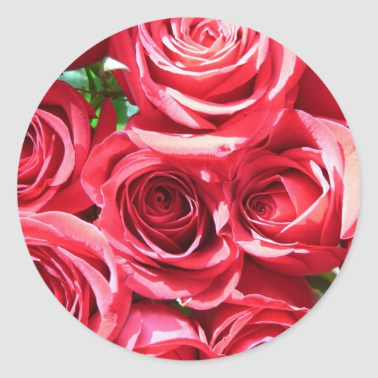 Red Roses Bunch stickers