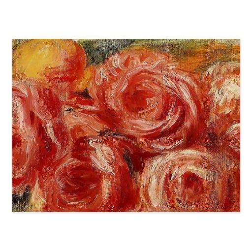Red Roses by Pierre-Auguste Renoir Post Card
