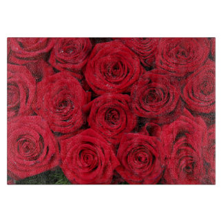 Red roses by Therosegarden Cutting Board