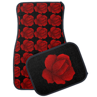 Red roses car mat