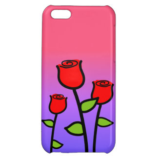 Red Roses Case For iPhone 5C