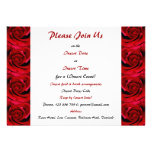 Red roses - customisable template custom invite