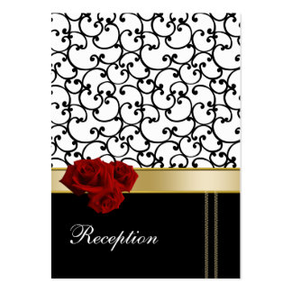 red roses damask Reception   Cards Business Cards