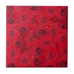 Red Roses Design Tile