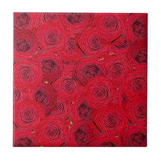 Red roses design tiles