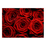 Red Roses Direction Cards Business Card Template