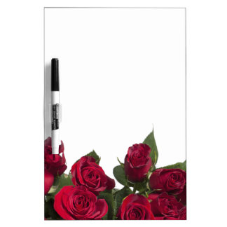 Red roses dry erase board