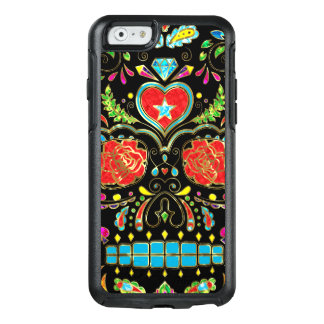 Red Roses Floral Sugar Skull OtterBox iPhone 6/6s Case
