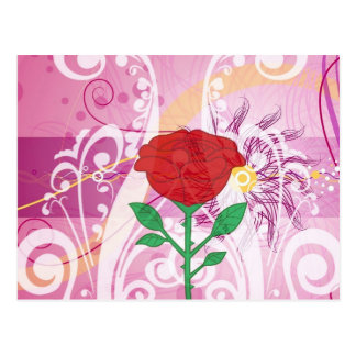 Red Roses Flower Pictures Design Postcard