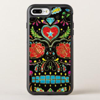 Red Roses & Flowers Sugar Skull OtterBox Symmetry iPhone 8 Plus/7 Plus Case