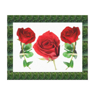 RED Roses for LOVE :  PURE Human Spirit Gallery Wrap Canvas