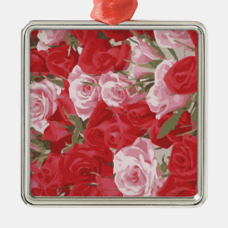 Red Roses for Thalia Christmas Ornament