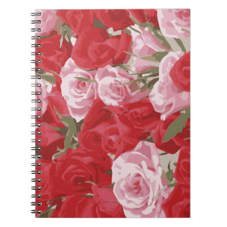 Red Roses for Thalia Spiral Notebooks