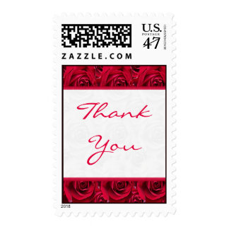 Red Roses Galore Thank You Postage