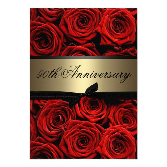 Red Roses | Golden Anniversary Card