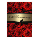 Red Roses | Golden Anniversary Personalised Announcements