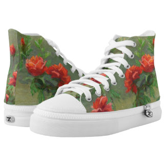 Red Roses in Soft Sunlight High Tops