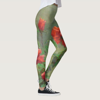 Red Roses in Soft Sunlight Leggings