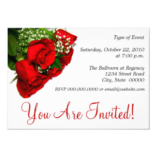 Red Roses Invitations