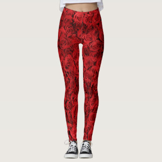 Red roses leggings