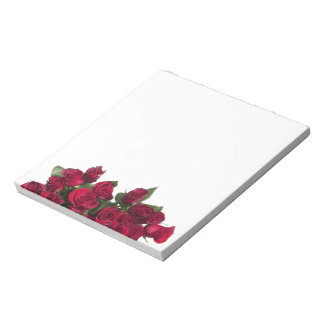 Red roses notepad