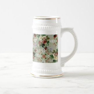 Red Roses on Green Coffee Mugs