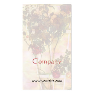 Red Roses on Trellis Light Business Card Templates