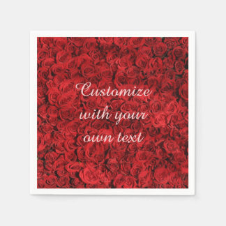 Red Roses Paper Napkin