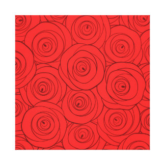 Red Roses Pattern Canvas Print