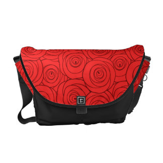 Red Roses Pattern Commuter Bags