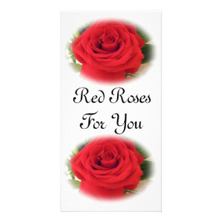 Red Roses Photo Card