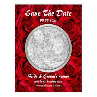 Red roses postcards template - customisable