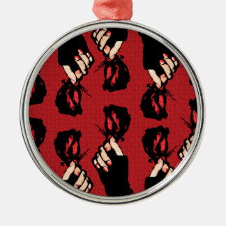 Red Roses Premium Round Ornament