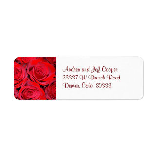 Red Roses Return Address Label