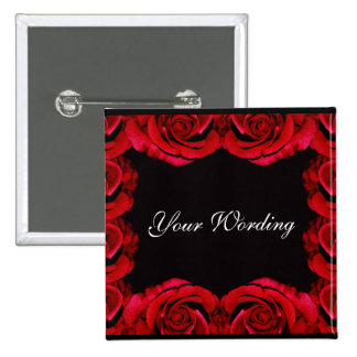 Red roses romantic button customise add wording